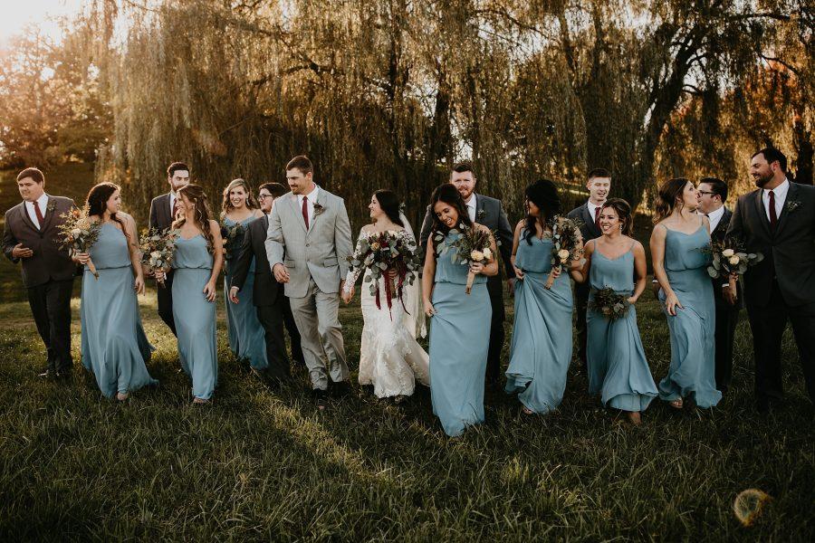 Wedding Photos under a willow tree